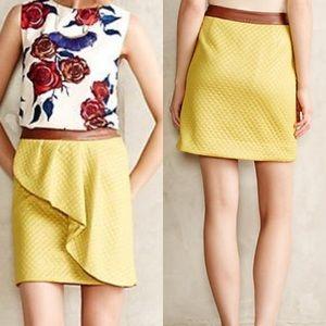 HD Anthropologie Lime Skirt